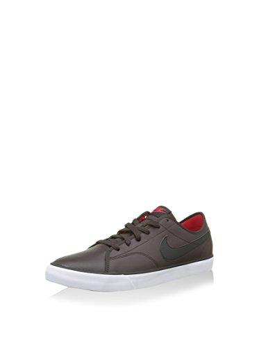 Nike Herren Primo Court Leather Turnschuhe, Braun/Schwarz/Rot/Weiß (Vlvt Brwn/Blk-Unvrsty RD-Weiß), 45.5 EU