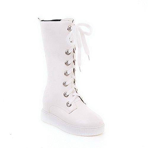 Kengät Vasikka Puolivälissä Side Balamasa Valkoinen Lisätä Abl10475 Mikrokuitua Sisällä Naisten XnIFPvwqP0