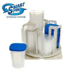 Smart Spin – Food Storage & Organization System – Microwave & Dishwasher Safe – BPA Free