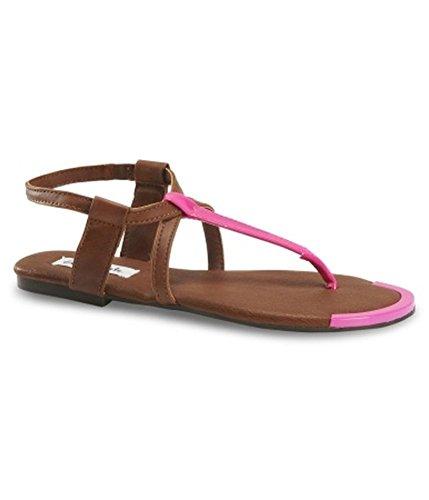 Aeropostale Womens Neon Gladiator Sandals, Pink, 9 B(M) US