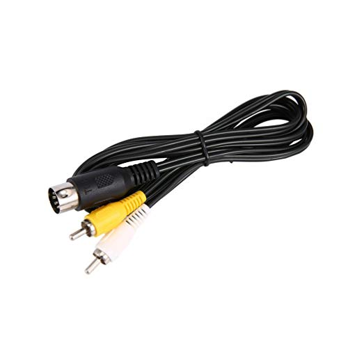 (Sega Mega Drive Md 1 Master System 1 Rca Phono Av Audio Video Lead A/V Cable Black)