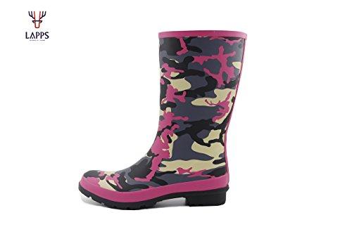 da Finland Stivali Designed di LAPPS Design Pioggia Gomma rosa in Militare Naturale Ragazza in caucciù Donna qFqwngS6t