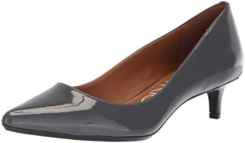 Calvin Klein Women's Gabrianna Pump Steel Greystone Patent 8 m us