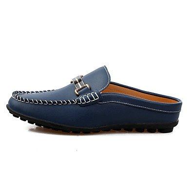 Zapatos de hombre casual Mocasines de cuero blanco / Marina Marina