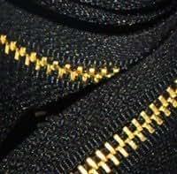 """Zipperstop Wholesale YKK® 12"""" Medium Weight Jacket Zipper YKK #5 Brass ~ Separating ~ 580 Black (1 Zipper/pack)"""