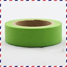 Washi Tape plain light green 1 roll of paper tape 10m x 1.5 cm by somi