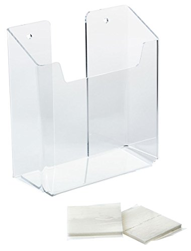 Display Stands 5-5/8 x 6 x 2 Inch Clear Acrylic Single Pocket Brochure Racks Hold 5-1/2 Inch Pamphlets - Sold in Case Packs of Ten