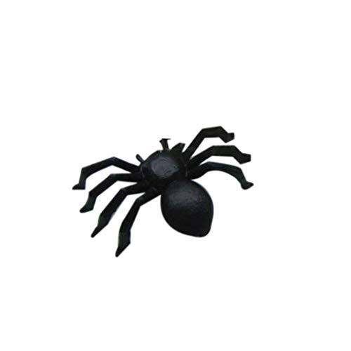 Baomabao 20 PC Halloween Plastic Black Spider Joking Toys Decoration Realistic by -