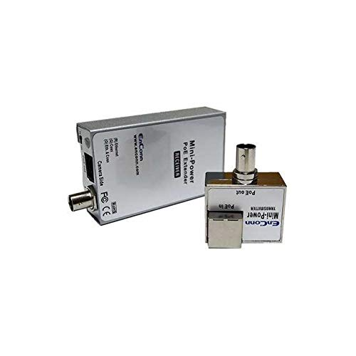 PoE Ethernet Extender Set Over Coaxial Cable (EoC) for IP Security CCTV Camera Transmitting Data and Power up to 800ft Long Distance