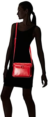 ILI Womens Leather Shoulder Handbag with Side Organizer
