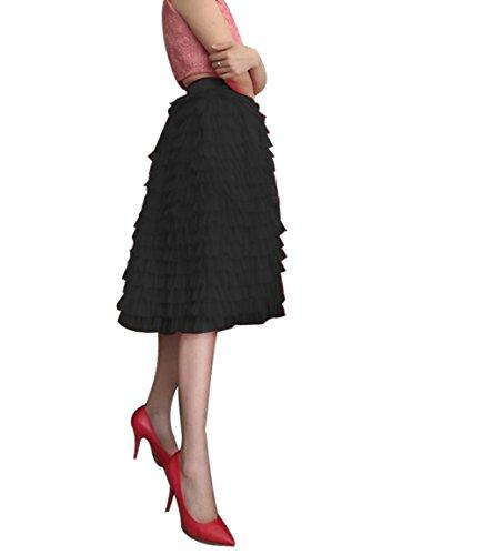 CoutureBridal - Falda - trapecio - para mujer negro