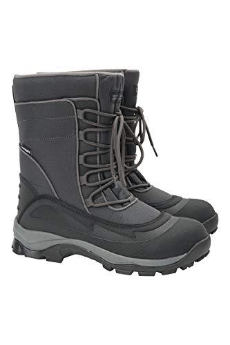 Mountain Warehouse Park-Schneestiefel für Männer - schneedicht, wasserfest, Sherpa-Futter, Außensohle mit starker Bodenhaftung - Camping, zum Zufußgehen in kaltem Wetter
