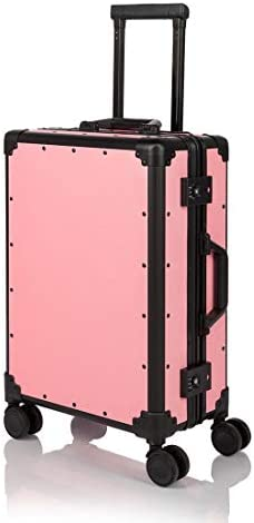 COTRUNKAGE Hardside Aluminum Frame Spinner Wheels Carry On Luggage with TSA Lock 20 , Pink