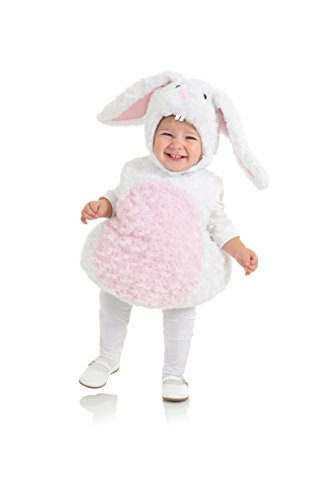Underwraps Baby's Rabbit Belly-Babies, White/Pink, Large -