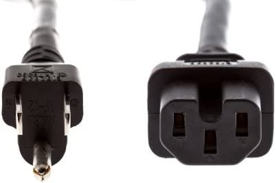 Short 3 ft AC Power Cord NEMA 5-15P to IEC C15 for JBL PRX612M