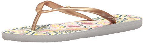 Roxy Women's Portofino Sandals Flip-Flop, Gold Cream, 9 M (Roxy Cream)