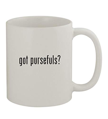 got pursefuls? - 11oz Sturdy Ceramic Coffee Cup Mug, White