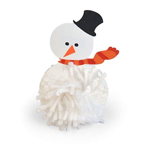 (Sizzix A11266 Originals Die Pom Pal Snowman, Multicolor)