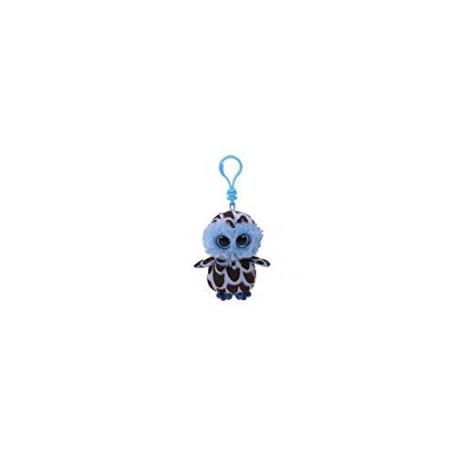 Ty Beanie Boos YAGO - Blue Owl Clip Key Chain Plush