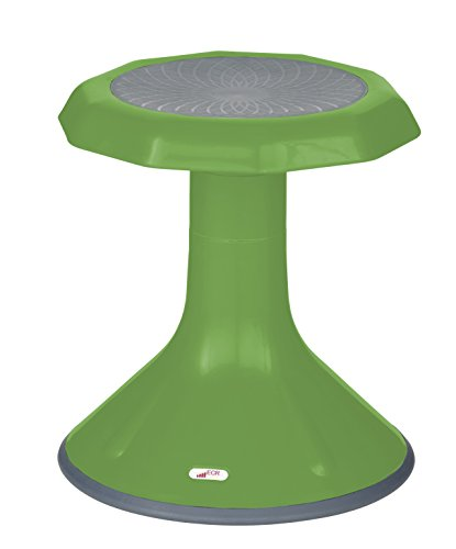 """ECR4Kids ACE Active Core Engagement Wobble Stool for Kids, Flexible Classroom and Home Seating, 15"""", Grassy Green"""