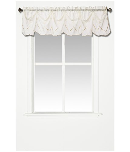Croscill Cavalier Sheer Federal Valance, 75-Inch by 13-Inch, Ivory