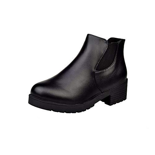 Spesso Stivali Scarpa Moda Alti Basso Stivale Autunno Casual Tacco Moda Scarpa   9dc869