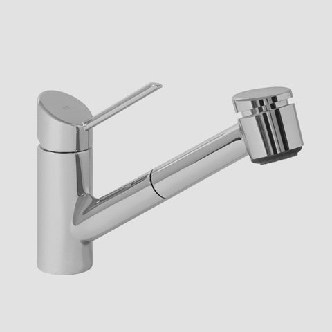 KWC Faucets 10.021.033.000 EDGE Pull Out Kitchen Faucet, Chrome - Edge Kitchen Faucet