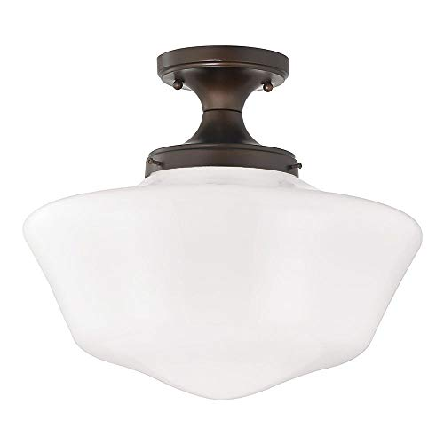(16-Inch Wide Schoolhouse Ceiling Light in Bronze Finish)
