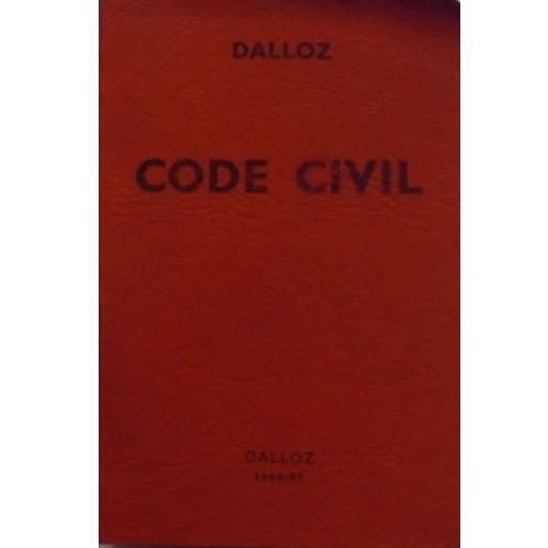 Code civil : 1984-1985 Dalloz Broché – 1984 France 2247005497 Codes Droit civil