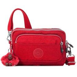 Kipling AC2491 Multiple Belt Bag / Shoulder Bag Red, Bags Central