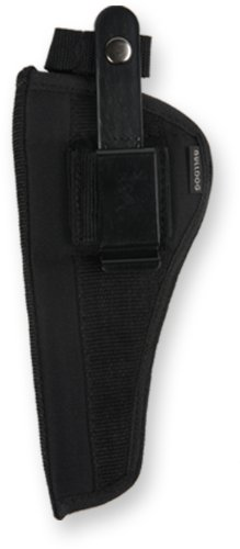 Bulldog Cases Belt and Clip Ambi Holster (Fits Most Large Frame Revolvers with 5 - 6-Inch Barrels, Ruger Redhawk)