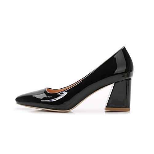 De Profesional Talón Alto Zapatos Mujer Tacón Tacón 5 Cm del GAOLIM De Negra Cuadrado Pie Zapatos Puso De Alto Singles Luz Un 8 Zapatos Negro Femeninos Alto qEtwvzwI