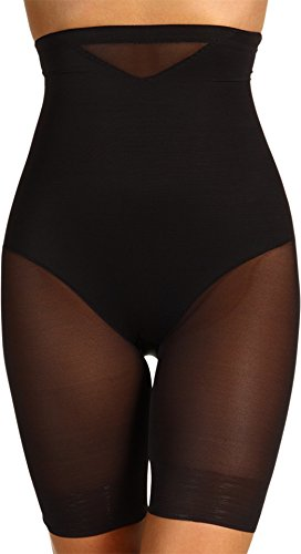 Miraclesuit Sexy Sheer Extra Firm Control High-Waist Thigh Slimmer, L, Black