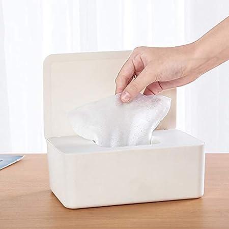 Caja de pa/ñuelos para pa/ñuelos de Papel higi/énico con Tapa y dispensador de toallitas h/úmedas y Resistentes al Polvo Fanville