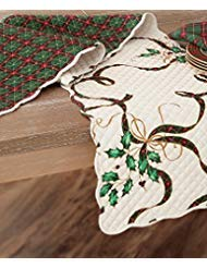 Lenox Holiday Nouveau Quilted Reversible Table Runner 14