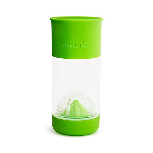 Munchkin Miracle 360 Fruit Infuser Sippy Cup, 14 Ounce, Green