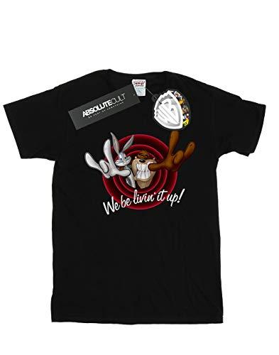 Negro Tunes Del Livin' Cult Fit Looney It Mujer Camiseta Novio Up Absolute qT6APxgExw