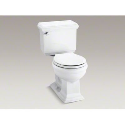 Height Two Piece Round Front (Kohler K-3986-0 Memoirs Comfort Height Two-Piece Round Front Toilet with Classic Design, White)