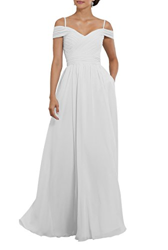 Off The Shoulder Ruched Chiffon Plus Size Beach Wedding Dress Long