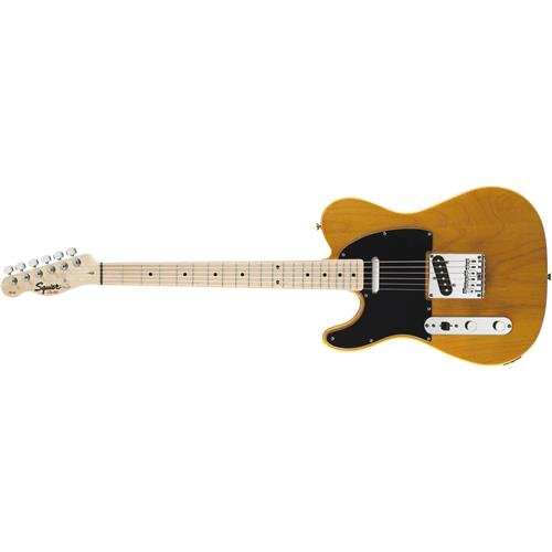 Squier by Fender Affinity Telecaster Beginner Electric Guitar - Left Handed -Maple Fingerboard, Butterscotch Blonde