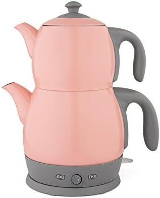 King Edelstahl Teemaschine Teemaker Wasserkocher Lea P315M 2 in 1 Hellblau Tee und Wasserkocher