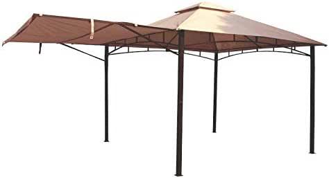 AIRWAVE Havana - Cenador de Metal con toldo (3 x 3 m, para jardín, Patio, Fiesta, Barbacoa), Color Beige: Amazon.es: Jardín