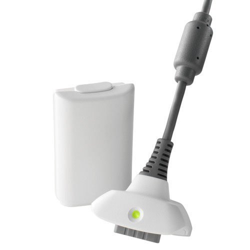 Xbox 360 Play & Charge Kit - White Battery and Charging cable (Generic)