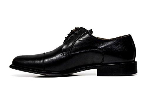 Chaussures habillées Exton hommes dentelle 8611 CALF NOIR