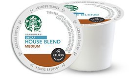 (24 Ct Starbucks Decaf House Blend Coffee K-Cup Packs)