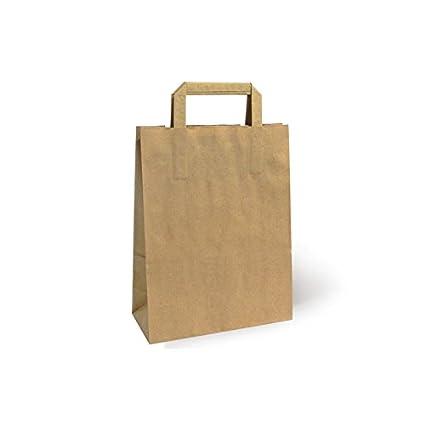 0f760bbda Bolsa de Papel Asa Plana Kraft, Pack de 25 uds (45 x 15 x 49 ...