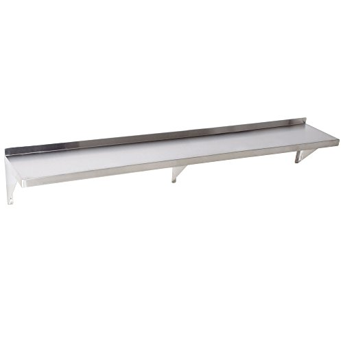 Stainless Shelf Wall Steel Commercial (Foodservice Essentials WS-1272 Commercial Wall Mount Shelf, 12-Inch x 72-Inch, Stainless Steel)
