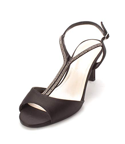Caparros Womens Delicia Open Toe Formal T-Strap Sandals, Black, Size 8.5