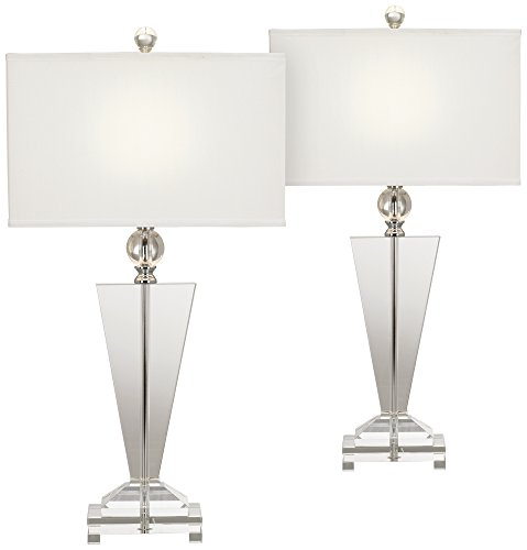 Crystal Trophy Table Lamp Set of ()