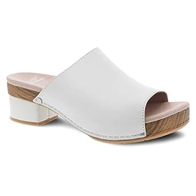 dansko Women's Maci Slide Sandal Ivory Full Grain 36 M EU (5.5-6 US)